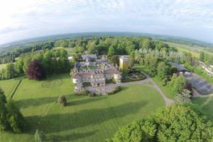 Aerial view of Lucknam Park.