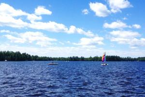 The lake at Chippewa Retreat Resort.