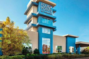 Exterior view of Four Points by Sheraton Plainview Long Island.