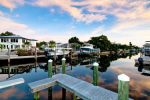 Rental dock at Island Real Estate.