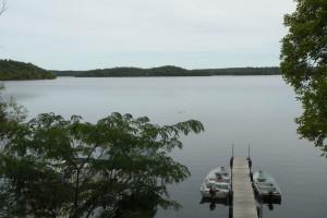 Beautiful lake at Campfire Bay Resort