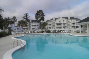 Outdoor pool at Brunswick Plantation Resort.