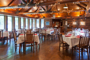 Dining at Drummond Island Resort.
