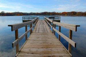 Dock at Spicer Green Lake Resort.
