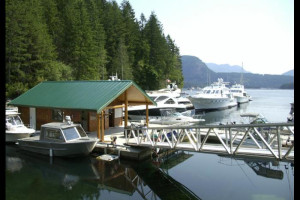 Exterior view of Dent Island Lodge.
