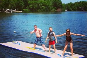 Lake activities at Riverside Resort.