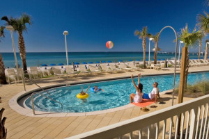 Outdoor pool at Calypso Resort & Spa.