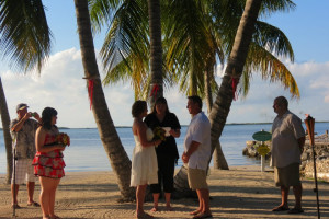 Beach wedding at Coconut Bay Resort Key Largo.