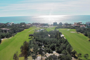 Golf course at Luxury Properties Vacation Rentals.