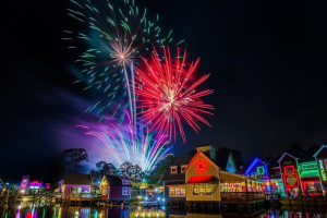 Fireworks at Luxury Properties Vacation Rentals.