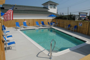 Swimming pool at Outer Banks Inn.