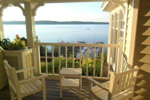Balcony view at The Geneva Inn.