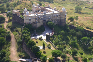 Aerial view of Fort of Bambora.