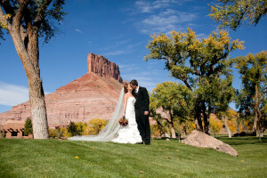 Wedding Couple at Gateway Canyons Resort