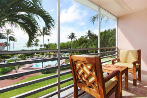 Guest balcony at The Inns of Sanibel.