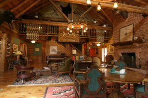 Lodge interior at The Lodge at Red River Ranch.