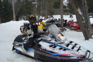 Snowmobiling at Lost Land Lake Lodge
