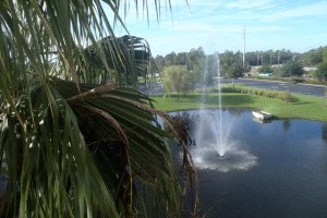 Fountain view at Floridays Resort Orlando.