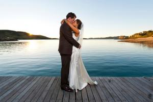Wedding couple at Split Rock Resort & Golf Club.