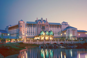Exterior view of Gaylord Texan Hotel & Convention Center.