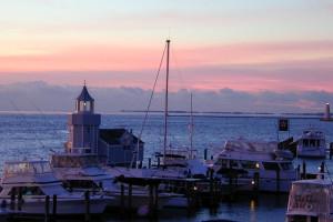 Morning view at Saybrook Point Inn.