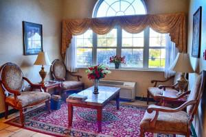 Lobby view at BridgePointe Inn & Suites.