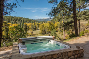 Rental hot tub at Pagosa Springs Accommodations.