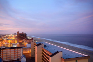 View from at Hilton Suites Ocean City Oceanfront.