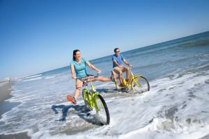 Beach bikes at Caribbean Resort & Villas.