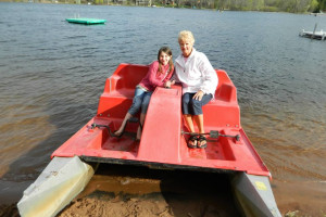 Paddle boat at Sand Lake Resort.