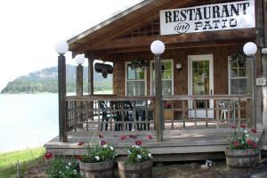 Restaurant exterior at Silver Beach Resort.
