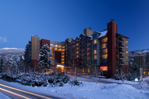 Exterior view of Hilton Whistler Resort.