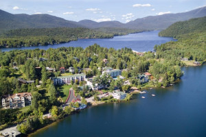 Aerial view of Mirror Lake Inn Resort & Spa.