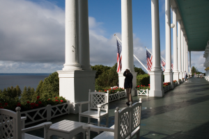 Front porch at Grand Hotel.