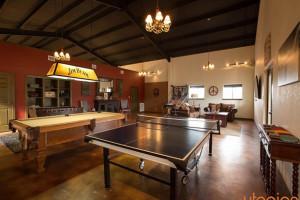 Rental game room at Utopian Austin Vacation Rentals.
