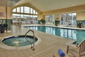 Swimming pool and hot tub at TownePlace Suites by Marriott at Joint Base Andrews