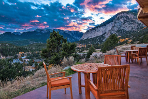 Patio view at Mt. Princeton Hot Springs Resort.