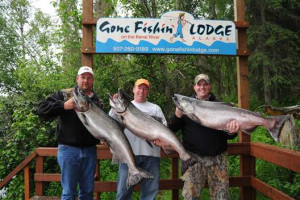King salmon fishing at Gone Fishin' Lodge.