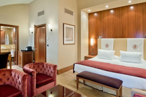 Guest room at  Hotel NH Palacio de Vigo.