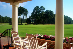 Porch view at Pinehurst Resort.