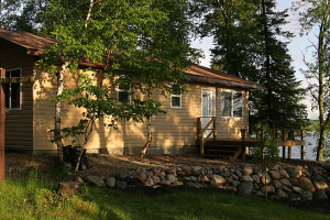 Cottage exterior at Little Norway Resort.