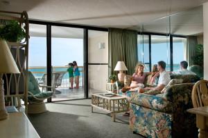 Rental living room at Ocean Creek Resort.