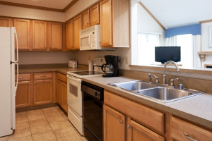 Condo kitchen at Grand Traverse Resort.