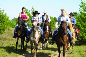 Horseback riding at Double JJ Resort.