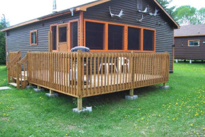 Cabin Exterior at Silv'ry Moon Lodge