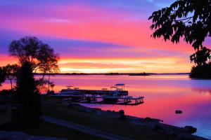 Sunset at Moosehorn Resort.