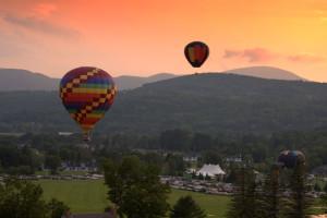 Hot air balloons at Stoweflake Mountain Resort & Spa.