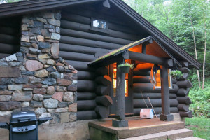 Cabin exterior at Loon Lake Lodge.