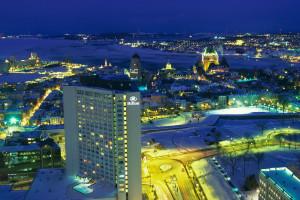 Exterior view of Hilton Quebec.