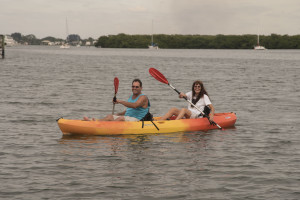 Kayaking at Englewood Beach & Yacht Club.